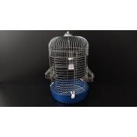 Gri Silindir Kuş Kafesi 57x36cm