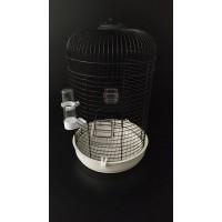 Siyah Silindir Kuş Kafesi 57x36cm
