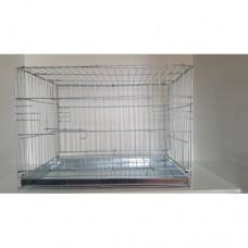 Kedi Köpek Kafesi Gri 61x51x41 cm Katlana Bilir