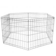 Köpek Kedi Çiti Panel Oyun Alanı 6 Parça Metal 100X63