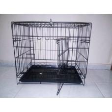 Köpek Kafesi Kedi Kafesi siyah 61X42X52 cm