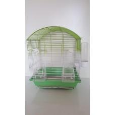 oval çatılı çift kapılı çekmeceli kafes yeşil