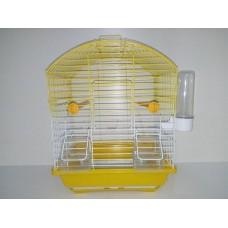 oval çatılı çift kapılı çekmeceli kafes sarı